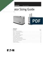Generator Sizing Guide