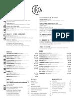 Circa Navy Yard menu