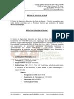 Edital Seleção 02.2019 - Tecnico de Campo