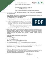 Ficha Trabalho Nº 1 12º Ano Cálculo Combinatório e Probabilidades 2018-2019