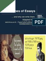 9th Types of Essays Descriptive