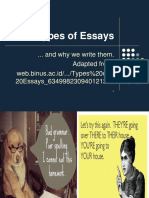 10th - Types of Essays Contrast - Compare