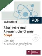 Allgemeine Anorganische Chemie-Skript Bruechert Uebungsaufgaben