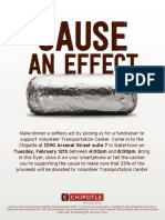 Chipotle Fundraiser for VTC, Watertown, NY