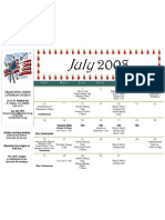 Calendar - July 2008