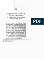 Indigenous oral tradition in southern Latin America