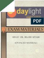 Daylight Exam Materials