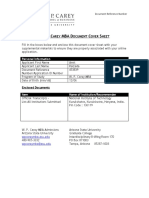 Supplemental Document Cover Sheet