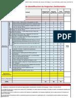 Ejemplo de una Matriz Consolidada de Identificación de Impacto Ambientales (obra