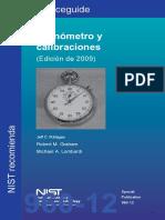 Calibración de cronómeros NIST en español