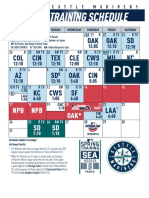 2019 Mariners Spring Training Schedule with TV/Radio info