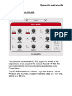 Synsonic BD-909 User Manual Pluginboutique