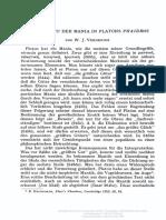 Archiv Für Geschichte Der Philosophie Volume 44 Issue 2 1962 [Doi 10.1515%2fagph.1962.44.2.132] Verdenius, w. j. -- Der Begriff Der Mania in Platons Phaidros
