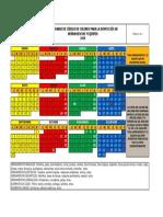 Calendario Código de Colores 2019