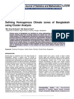 Defining Homogenous Climate zones of Bangladesh using Cluster Analysis