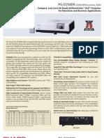 Sharp Projector Spec 5393