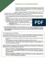 Tema 7. Los Ecosistemas y La Biodiversidad