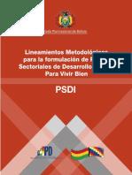 Lineamientos Psdi - Mpd