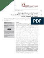 Participación comunitaria-PB