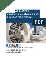 Cómo Calcular El Consumo Eléctrico de Un Aire Acondicionado