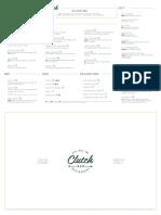 Clutch Dinner menu