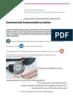 Controversele Tratamentului Cu Statine - Revista Galenus