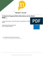 Putnam2006 Micro History and Atlantic World