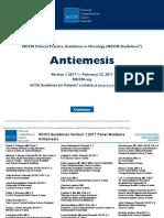 NCCN Guidelines Antiemesis v1.2017