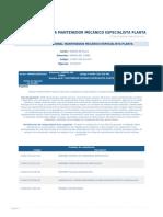 Perfil Competencia Mantenedor Mecanico Especialista Planta