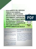 reglamento de residuos y desechos sólidos San José Chacayá, Sololá