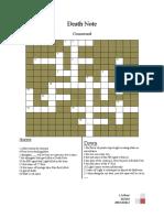 Death Note Crossword puzzle