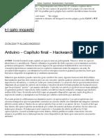 Arduino – Capítulo final – Hackeando botones – El gato inquieto