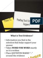 Determining Textual Evidence
