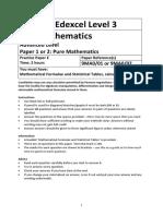 A level Mathematics Practice Paper E – Pure Mathematics.docx