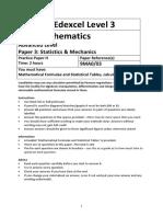 A level Mathematics Practice Paper H – Statistics and Mechanics.docx