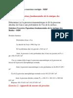 S2 1011 Mecanique Des Fluides TD Correction