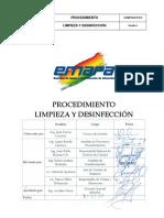 Procedimiento Limpieza y Desinfección v1(1)