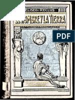 Reclus, Élisée - El Hombre y La Tierra (Tomo 6) [Escuela Moderna, 1906. Trad. Anselmo Lorenzo. Rev. Odón de Buen]