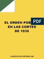Orden Publico en 1936 (Segunda Republica)