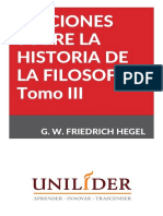Hegel, G. W. Friedrich - Lecciones Sobre La Historia de La Filosofía III