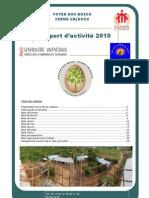 Rapport d'activité 2010 Ferme Valdoco FDB