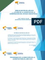 Informe de Gestion Juventud 2018