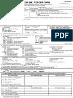 Medication Error Reporting Form Pindaan 2