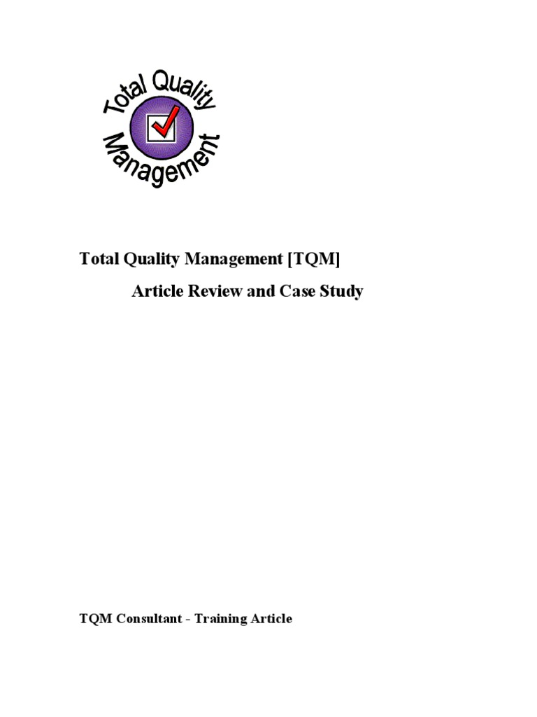 article review on total quality management