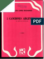 IMSLP490085-PMLP793503-Cinco Canciones Argentinas Al Estilo Popular