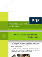 Contabilidad de Transacciones en Divisas