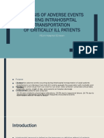 Analysis of Adverse Events during Intrahospital Transportation.pptx