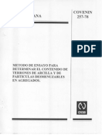 257-78 Contenidos Terrones de Arcilla Particulas Desmenuzables