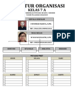 Struktur Organisasi Kelas 9g