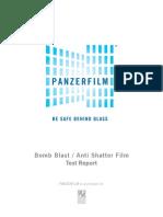 Bomb Blast Test Report Panzerfilm